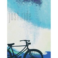 Just Ride by Artist Lisa Weedn Wood Sign
