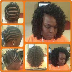 American and African Hair Braiding : Kima Ripple Deep 2 pks - crochet hair styles - Arvina Sew In Hairstyles, Crochet Braids Hairstyles, African Braids Hairstyles, Braided Hairstyles, Toddler Hairstyles, Updo Hairstyle, Hairdos, Hairstyle Ideas, Curly Crochet Hair Styles