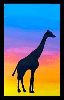 arteascuola: Shilouette in controluce Square One Art, Kids Art Party, Giraffe Art, Giraffes, Easy Disney Drawings, 7th Grade Art, Art Lessons Elementary, Middle School Art, Arts Ed