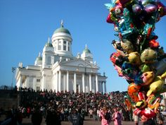 Vappu celebration in Helsinki