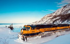 and break clear away, once in awhile, and climb a mountain or spend a week in the woods. John Muir Take a course in good water and air; and in the eternal youth of Nature you may renew your own. Alaska Railroad, Union Pacific Railroad, Gaia, Miss Alaska, Dazzle Camouflage, Weather Snow, John Muir, Closer To Nature, Train Tracks
