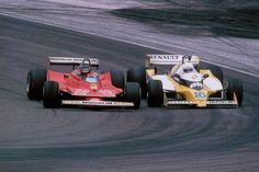 Gilles Villeneuve vs. Rene Arnoux, France, 1979.