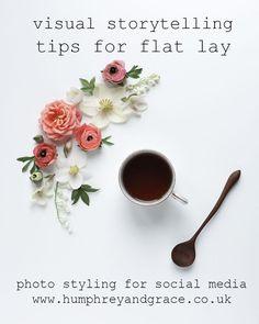flat lay photo styling tips