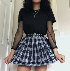 Style Rock And Roll Grunge Hair 19 Ideas Grunge Outfits, Gothic Outfits, Edgy Outfits, Grunge Fashion, Cool Outfits, Fashion Outfits, Fashion Trends, Hipster Outfits, Aesthetic Grunge Outfit