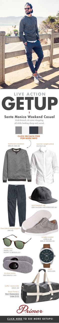 Grab brunch, do some shopping, all while looking sharp and casual.