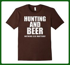 Mens Hunting And Beer Nothing Else Matters Funny Cool T Shirt XL Brown - Food and drink shirts (*Amazon Partner-Link)