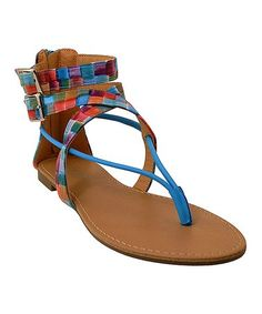 Another great find on #zulily! Blue Abstract Sandal #zulilyfinds