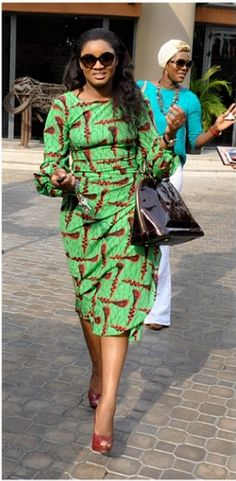 FAB Fashion: Omotola Jalade Ekeinde Is Stunning In An Ada By Alter Ego Print Iro ~African Prints, African women dresses, African fashion styles, african clothing African Print Dresses, African Print Fashion, Africa Fashion, African Dress, Fashion Prints, African Prints, Fashion Design, Fashion Styles, Women's Fashion