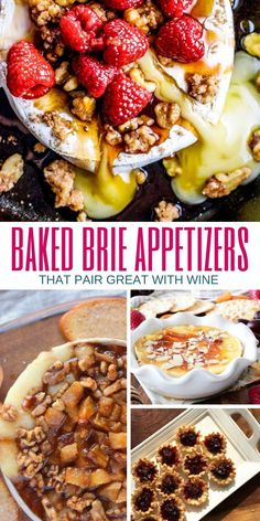 20 Baked Brie Appetizers to Serve at Your Next Wine Tasting Party via @aspiringwinos Peach Appetizer, Baked Brie Appetizer, Bite Size Appetizers, Elegant Appetizers, Cheese Appetizers, Yummy Appetizers, Baked Brie With Jam, Wine Tasting Party, Wine Parties