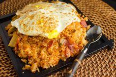 Korean Food Recipe: Kimchi and Bacon Fried Rice
