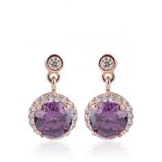 Buy #Addons #Violet Color Stud #Earrings at best price !