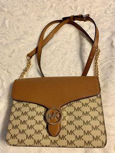 80828dcb74f9 Michael Kors Vanna Natural Acron Tan Purse Handbag Crossover MD Shoulder  Flap  fashion  clothing  shoes  accessories  womensbagshandbags (ebay link)