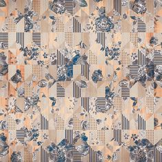 INNESTO - Designer Wall coverings / wallpapers from Inkiostro Bianco ✓ all information ✓ high-resolution images ✓ CADs ✓ catalogues ✓ contact. E Design, Pattern Design, Elephant Tapestry, Pattern Illustration, Graphic Patterns, Pattern Drawing, Textures Patterns, Flower Art, Fabric Design
