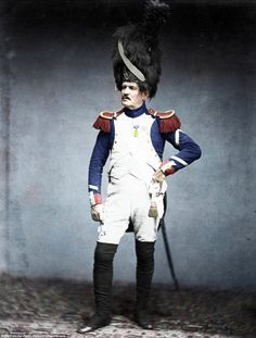 Sergeant Taria, of the Grenadiere de la Garde, who served between 1809 and 1815. His red l...