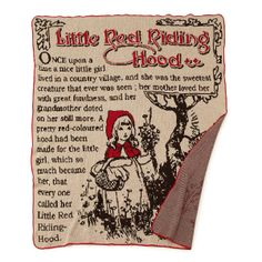 LITTLE RED RIDING HOOD BLANKET   book throw, blanket   UncommonGoods- Beth