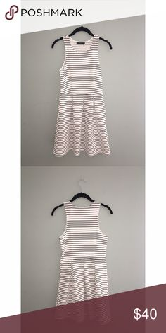 Anthropologie THML Striped Dress Anthropologie THML Striped Dress   EUC   Size: S  Simple chic black & white striped dress. Add a pop of color with super cute accessories   Approx Measurements:   Make me an offer 😉 Anthropologie Dresses