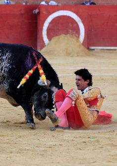 Spanish bullfighter Victor Barrio, 29, is gored during a bullfight held on the occasion of Feria del Angel in Teruel, Aragon (Spain), 09 July 2016.