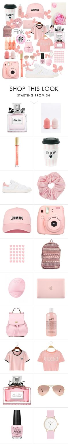 """""""Pink💕"""" by xxxkiek ❤ liked on Polyvore featuring Christian Dior, NPW, Max Factor, adidas Originals, Polaroid, Billabong, Incase, Dolce&Gabbana, philosophy and Ray-Ban"""