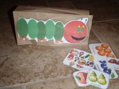 The Very Hungry Caterpillar by Eric Carle paper bag puppet. Eric Carle, Kindergarten Literacy, Literacy Activities, The Very Hungry Caterpillar Activities, Paper Bag Puppets, Preschool Crafts, Preschool Christmas, Preschool Ideas, Teaching Ideas