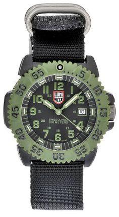 cool Luminox Men's 3041 Quartz Black Dial Carbon Reinforced Polycarbonate Watch  –