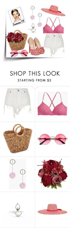 """Red 🔥Gingham  #379"" by missactive-xtraordinary ❤ liked on Polyvore featuring River Island, J.Crew, Sur La Table, Boohoo, Christian Louboutin and Nannacay"