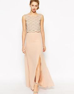 TFNC Maxi Dress With Double Layer Scallop Embellished Bodice at asos.com #dress #women #covetme