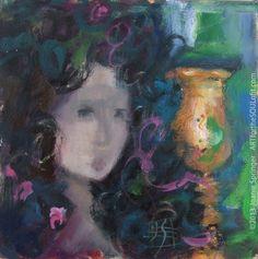 joanie springer art   ... original gouache figurative painting by gouache artist Joanie Springer