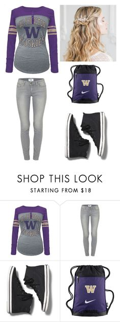 """""""Washington Huskies"""" by lesley-danae-2003 on Polyvore featuring 5th & Ocean, Paige Denim, Keds and NIKE"""