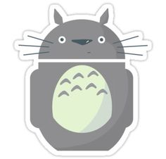 individual die cut Totoroid sticker by khallion on Etsy, $4.00