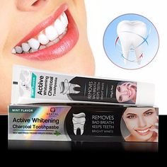 Natural Bamboo Activated Charcoal Whitening Toothpaste #charcoalteethwhiteninghowtouse