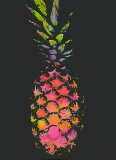Pineapple Art Print by Georgiana Paraschiv.great for kitchen!