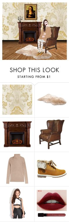 """""""Toasty"""" by runwithfashion ❤ liked on Polyvore featuring interior, interiors, interior design, home, home decor, interior decorating, Upton Home, Vanessa Bruno, Timberland and Sylvania"""