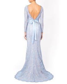 Blue lace bridesmaid dress