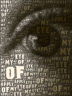 """Keep me as the apple of Your eye; Hide me under the shadow of Your wings,"" Psalm Look Into My Eyes, Eyes Without A Face, Art Pictures, Art Images, Lovers Eyes, Types Of Eyes, Graphic Art, Graphic Design, Under The Shadow"