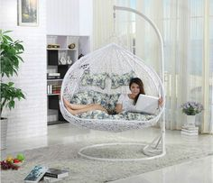 teardrop swing chair tot spot lounge get creative with indoor hanging chairs urban casa outdoor two seat papasan