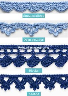 Crochet Borders Crochet Edgings And Trims with Free Pattern - We rounded up a list of 20 Crochet Edging Patterns. They are ready to take center stage and dress up anything you crochet. Crochet Trim, Love Crochet, Learn To Crochet, Beautiful Crochet, Crochet Baby, Crochet Bikini, Crochet Birds, Crochet Animals, Double Crochet