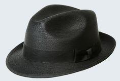 82465c8496b Description B Unforgettable. brim Fedora Black colored palm with black  Grosgrain bowed ribbon. SunBody Hats