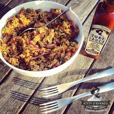Kitty O'Byrnes #Turf Sauce #Chicken #Rice #Murphys #Irish #Stout Chicken Rice, Fried Rice, Fries, Kitty, Ethnic Recipes, Food, Little Kitty, Arroz Con Pollo, Kitty Cats