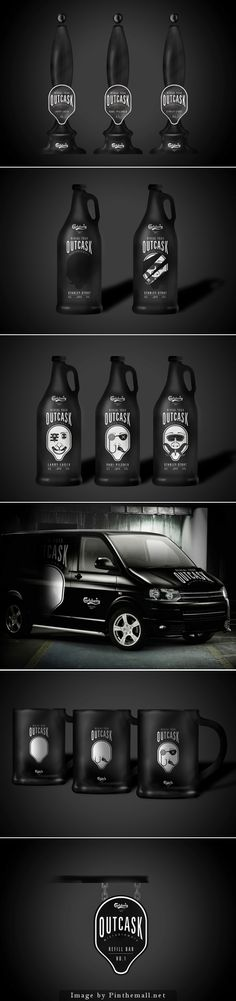 Outcask a packaging and branding redesign for Carlsbad's new microbrewery. The target audience is mainly males aged 20-25 who are 'explorers' curated by Packaging Diva PD created via http://www.packageinspiration.com/outcask.html/