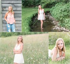 A beautiful rustic senior session along a barn and creek in Mechanicsburg Pennsylvania. Photographed by Cumberland Valley HS senior photographer, Tina Jay Photography