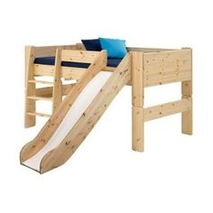 Popsicle Midsleeper Twin Loft Bed with Slide - The Boy would LOVE a bed like this!!!