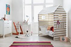 This @StokkeBaby Home Crib converts to a whimsical toddler bed!