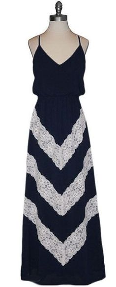 Chevron Lace Maxi Dress <3
