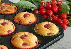 Slovak Recipes, Czech Recipes, Cupcake Recipes, Dessert Recipes, Desserts, Cherry Muffins, Kolaci I Torte, Muffin Bread, Cheesecake Cupcakes