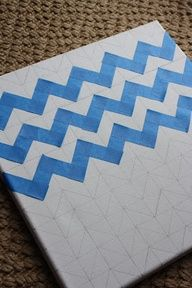 """How To: Chevron Painted Canvas"""" data-componentType=""""MODAL_PIN"""