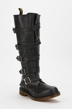 d1f0497f795f Dr. Martens Phina Buckle-Strap Leather Combat Boot
