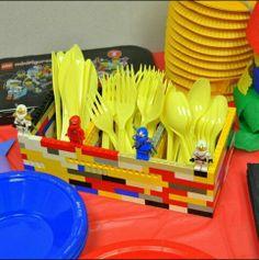 Lego Ninjago utensil holder #LegoPartyTheme
