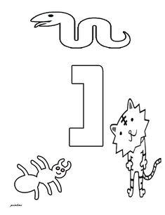 פרינטיים - דפי צביעה ללימוד האותיות- אותיות עם חיות