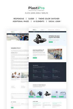 PlastiPro - Industrial Responsive Joomla Template #66905