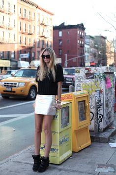 Stylestalker skirt, Tibi knit, Isabel Marant sneakers